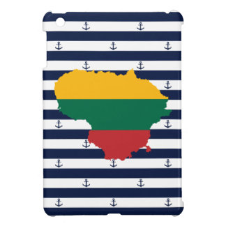 Flag/map of Lithuania on striped background iPad Mini Case