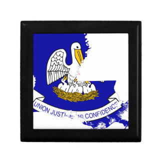 Flag Map Of Louisiana Gift Box