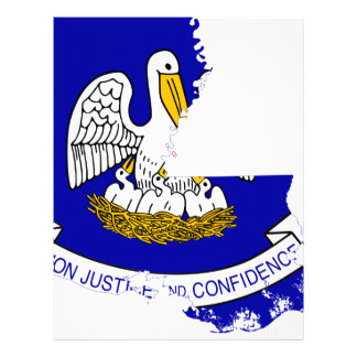 Flag Map Of Louisiana Letterhead