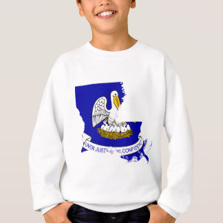 Flag Map Of Louisiana Sweatshirt