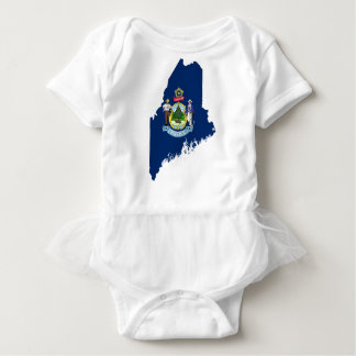 Flag Map Of Maine Baby Bodysuit