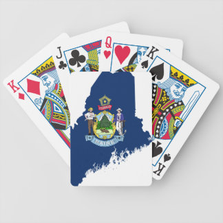 Flag Map Of Maine Bicycle Playing Cards