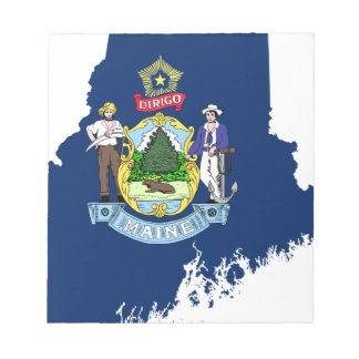 Flag Map Of Maine Notepad