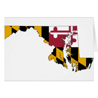 Flag Map Of Maryland Card