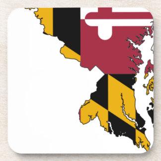 Flag Map Of Maryland Coaster