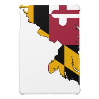 Flag Map Of Maryland iPad Mini Cases