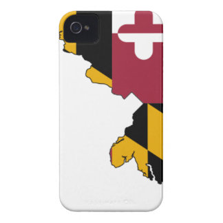 Flag Map Of Maryland iPhone 4 Case