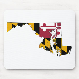 Flag Map Of Maryland Mouse Pad