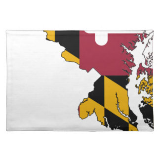 Flag Map Of Maryland Placemat