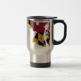 Flag Map Of Maryland Travel Mug