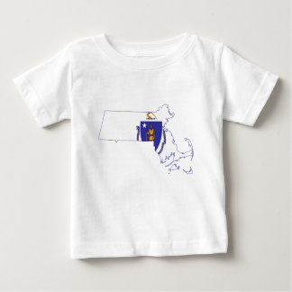 Flag Map Of Massachusetts Baby T-Shirt