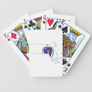 Flag Map Of Massachusetts Bicycle Playing Cards