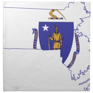 Flag Map Of Massachusetts Napkin