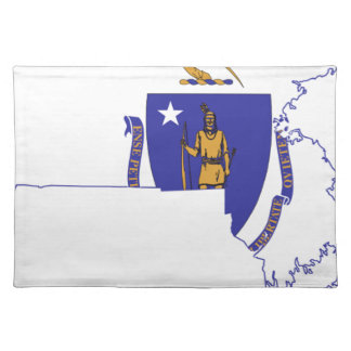 Flag Map Of Massachusetts Placemat