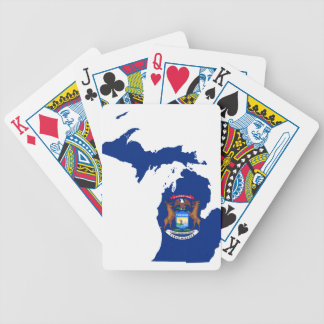 Flag Map Of Michigan Bicycle Playing Cards