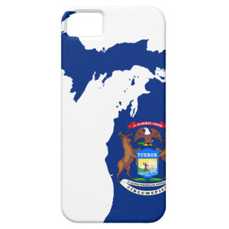 Flag Map Of Michigan Case For The iPhone 5