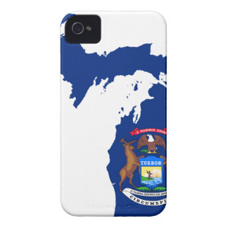 Flag Map Of Michigan iPhone 4 Cover