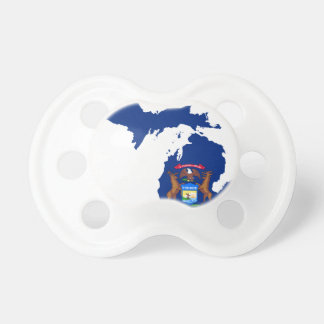 Flag Map Of Michigan Pacifier