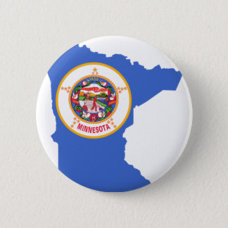 Flag Map Of Minnesota 2 Inch Round Button