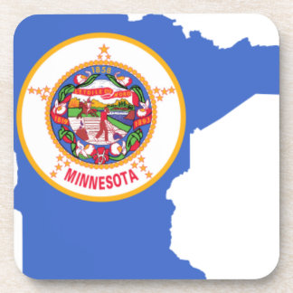 Flag Map Of Minnesota Coaster