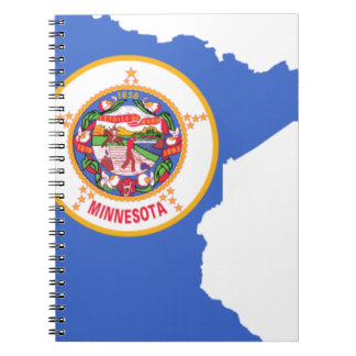 Flag Map Of Minnesota Notebook