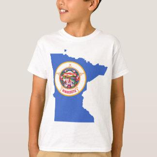 Flag Map Of Minnesota T-Shirt