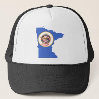 Flag Map Of Minnesota Trucker Hat