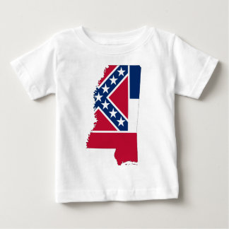 Flag Map Of Mississippi Baby T-Shirt