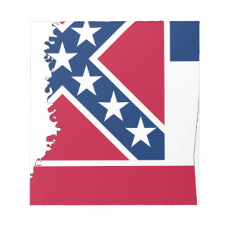 Flag Map Of Mississippi Notepad