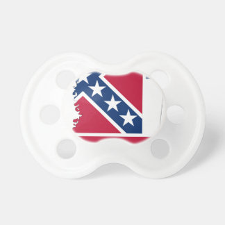 Flag Map Of Mississippi Pacifier