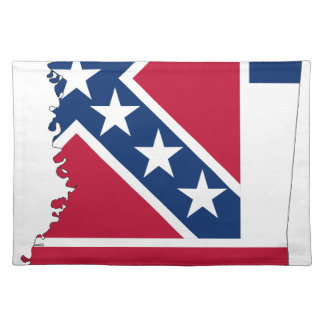 Flag Map Of Mississippi Placemat