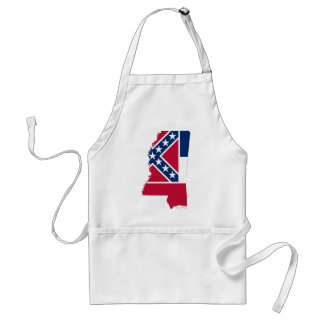 Flag Map Of Mississippi Standard Apron