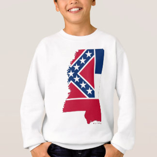 Flag Map Of Mississippi Sweatshirt