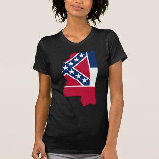 Flag Map Of Mississippi T-Shirt