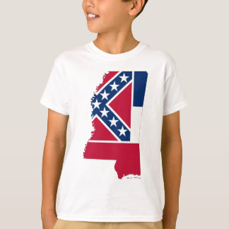 Flag Map Of Mississippi T-Shirt