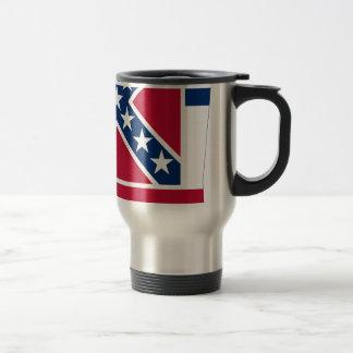 Flag Map Of Mississippi Travel Mug