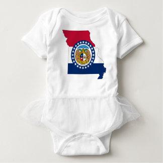 Flag Map Of Missouri Baby Bodysuit