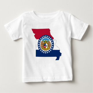 Flag Map Of Missouri Baby T-Shirt