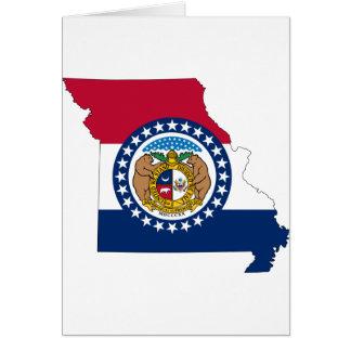 Flag Map Of Missouri Card