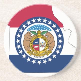 Flag Map Of Missouri Coaster