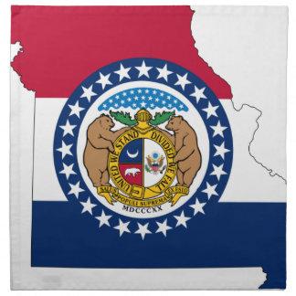 Flag Map Of Missouri Napkin