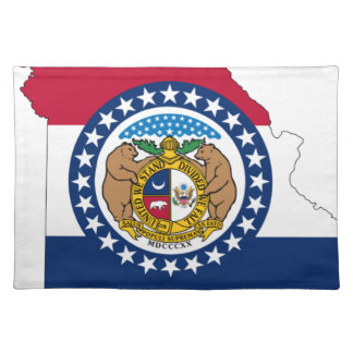 Flag Map Of Missouri Placemat
