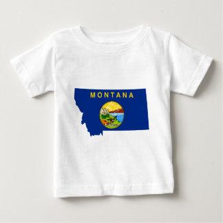 Flag Map Of Montana Baby T-Shirt