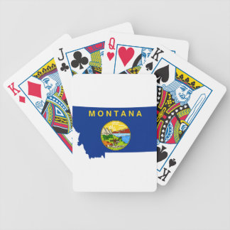 Flag Map Of Montana Bicycle Playing Cards