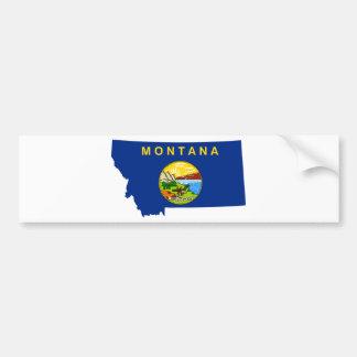 Flag Map Of Montana Bumper Sticker