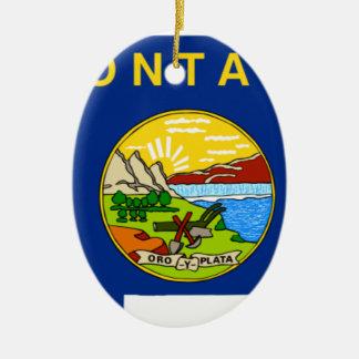 Flag Map Of Montana Ceramic Ornament