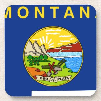 Flag Map Of Montana Coaster