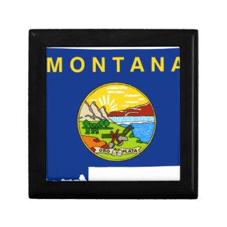 Flag Map Of Montana Gift Box