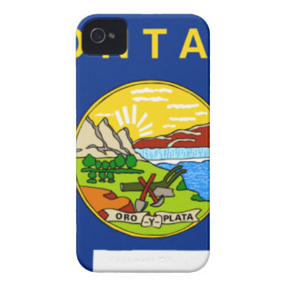 Flag Map Of Montana iPhone 4 Case-Mate Cases