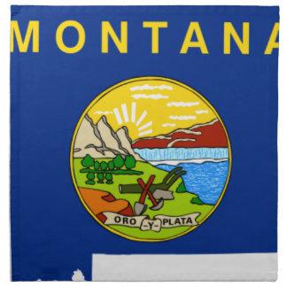 Flag Map Of Montana Napkin